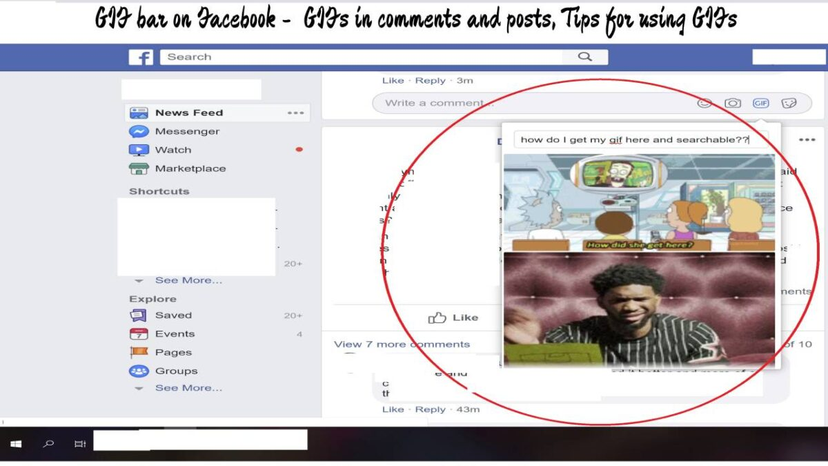 GIF bar on Facebook –  GIFs in comments and posts, Tips for using GIFs