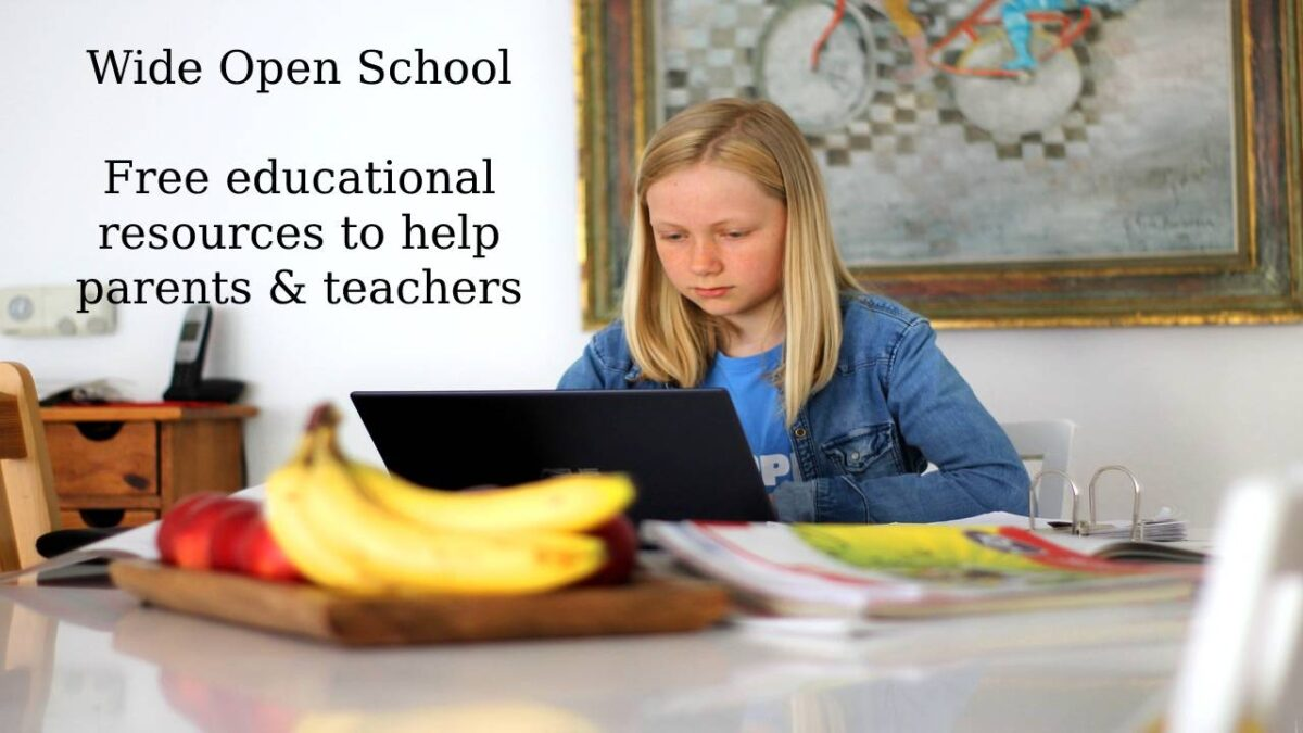 Wide Open School – Free educational resources to help parents and teachers